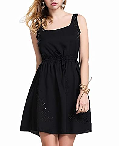 LemonGirl Women's A-Line Hollow Dress Vest Chiffon