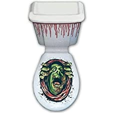 Halloween Toilet Seat Lid & Cistern Cover Scary Monster Party Decoration