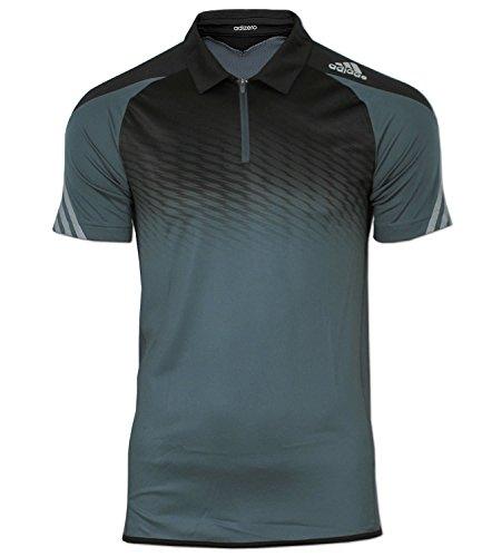 adidas Herren Shirt adizero Polo Poloshirt (S, Dunkelgrau) (S/s Mesh-polo-shirt)