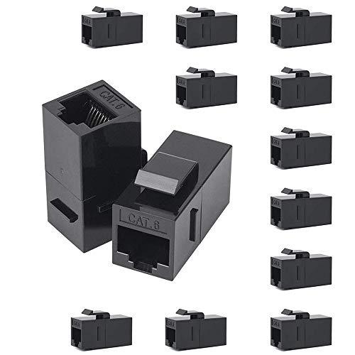 NOBLJX 50er-Pack CAT6-Keystone-Koppler, RJ45-UTP-Koppler, Buchse zu Buchse, gerade, ungeschirmt, Cat 6-Ethernet-Modul-Adapteranschluss für Steckdosenleiste - 5e Keystone-koppler
