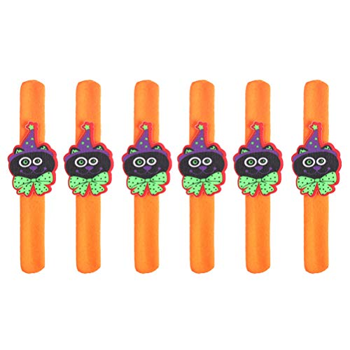 Amosfun Slap Bracelets Snap Wristband Kids Lustiges Armband für Halloween Party Favors Requisiten 6St