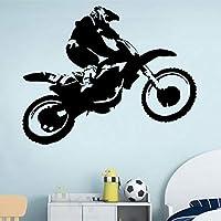 zzlfn3lv DIY Mural Vinyl Sticker Scrambler Motorcycle Dirt Bike Wall Decal Motocross Chopper Ride Children Guys Boys Bedroom 53 * 42cm