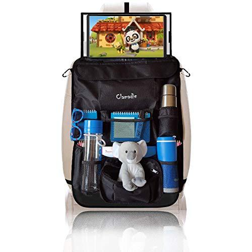 Protezione Sedile Auto Bambini Clamadie ®, Proteggi Sedili Posteriore Auto Coprisedile Organizer Auto|Supporto Tablet Auto Porta...