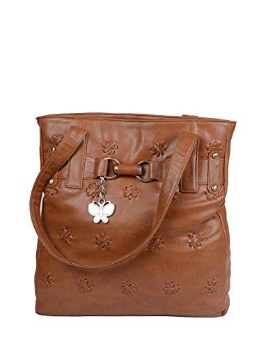 Butterflies Women's Handbag (Rust) (BNS 0169)