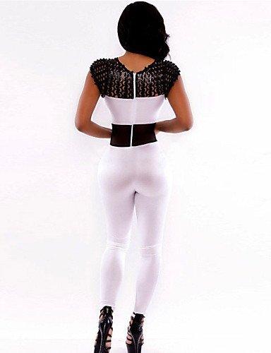 GSP-JUMPSUIT ( Spandex/Polyester ) Slim - Fin - Elastique à Sans manche white-m