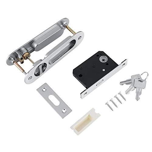 cken Griff Innenraum Tür Pull Lock Modern Anti-diebstahl Zimmer Holz Tür Schloss Cerradura Für Scheunenholzmöbel silber ()