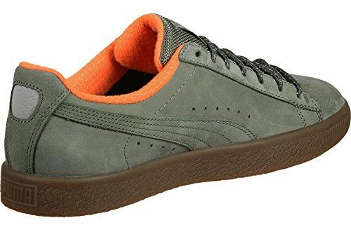 Puma Clyde Winter Scarpa oliva arancione