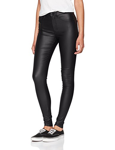 ONLY NOS Damen Skinny Jeans Onlroyal HW SK Rock Coated Pim Noos, Grau (Black), W30/L32 -