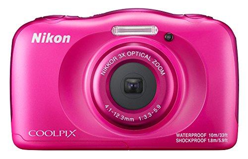 Nikon Coolpix W100 - Cámara digital compacta de 13.2 MP, kit con mochila (pantalla LCD de 2.7', CMOS, Snapbridge, VR, objetivo Nikkor, USB, vídeo Full HD, WiFi), Rosa