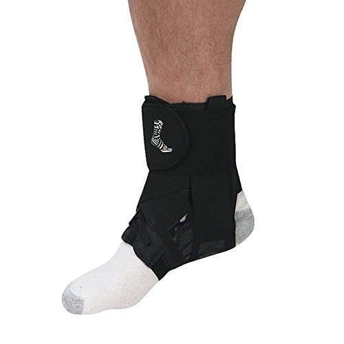 Mueller The One Ankle Brace - Neoprene Free Ankle Support Bandage, Adjustable, Black, Flexible, Traditional Taping, Light Latex, Seamless Under Foot Construction, Cushioned, Comfortable, Breathable
