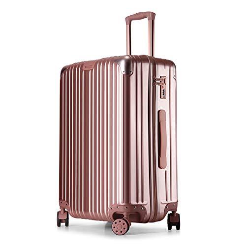 DEFfd Bagagli da viaggio 20 pollici, 22 pollici, 24 pollici, 26 pollici (colore : Oro rosa)