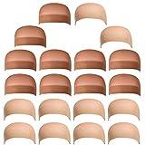 20 Pezzi Calotte per Parrucca di Nylon Unisex Wig Caps, Calza Tappi Parrucca Hairnet Cap Protezione Della Parrucca Cap Retina per Capelli, Copricapo di Parrucche per Donne e Uomini
