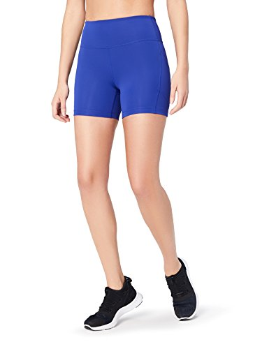 Core 10 pantaloncini da corsa a compressione a vita alta donna, blu (brite blue), x-small