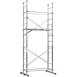 "Hailo 1-2-3 500 - Andamio de aluminio con sistema ""Hailo Speed Lock"", 330 x 170 x 120 cm (altura max. de trabajo: 4,40 m)"