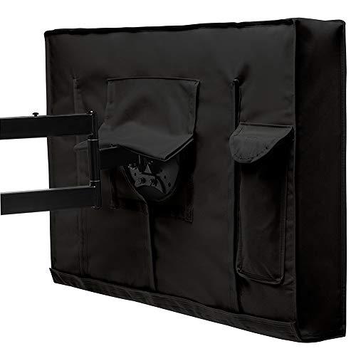 Gartenmöbel Schutzhülle, Patio-TV-Abdeckung - Wetterfester Universalschutz für den Außenbereich für LCD- / LED- / Plasma-Fernseher - Schwarz (Size : 50-52inch) (Plasma 51 Tv)