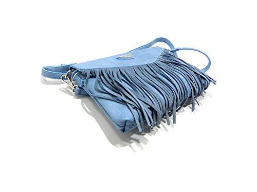 XTI 85803 Borsa A Tracolla con Frange Jeans Jeans
