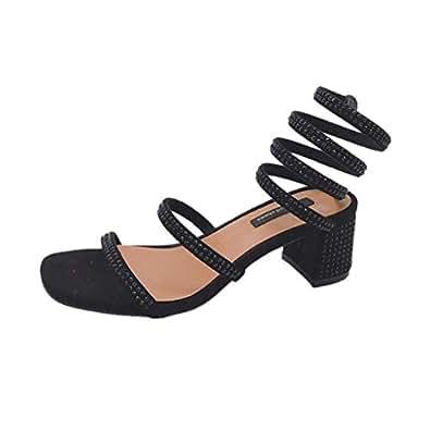 e516463470245 Lolittas Black Women Sandals High Heel Crystal Diamante Glitter ...