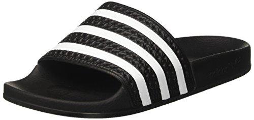 Adidas adilette ciabatte unisex – adulto, nero (black/white/black), 39 eu 6 uk