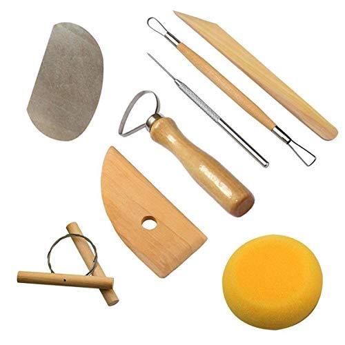 Yongbest Schnitz Werkzeug Set, 8 Pcs Clay formbare Tools Keramik Werkzeug für Anfänger,Profis und Künstler für Tonkeramik,Skulptur,Basteln