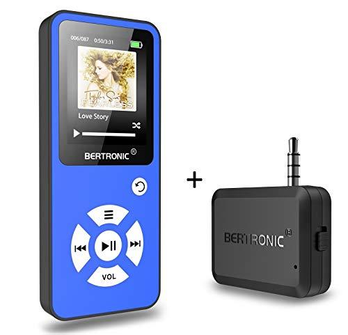 BERTRONIC Made in Germany Royal BC01 MP3-Player mit Bluetooth Adapter - Bis 100 Stunden Wiedergabe   Radio   Portabler Player mit Lautsprecher   Audio-Player für Sport mit Micro-SD Kartenslot
