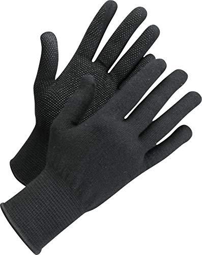 Worksafe Arbeitshandschuhe Baumwolle, Strickhandschuhe mit Noppen, L71-720 - 12 Paar, Gr. 10-11, schwarz