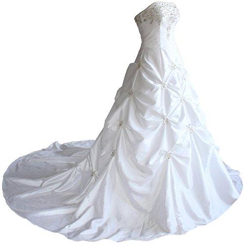 Edaier Damen Liebsten Taft Hochzeits Brautkleid Größe 60 Weiß