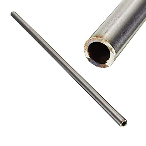 Coogel - 1pc New 304 Stainless Steel Capillary Tube 12mm OD 10mm ID 250mm Length Silver for Industry Tool