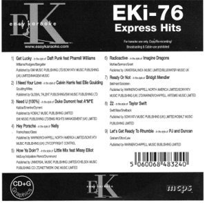 Price comparison product image Easy Karaoke EK EKi-76 EKi76 Express Hits Karaoke Disc Charts 2013