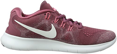 Nike Damen Wmns Free RN 2017 Laufschuhe Rot (Vintage Wine/off White-elemental Rose-sunset Pulse 604)