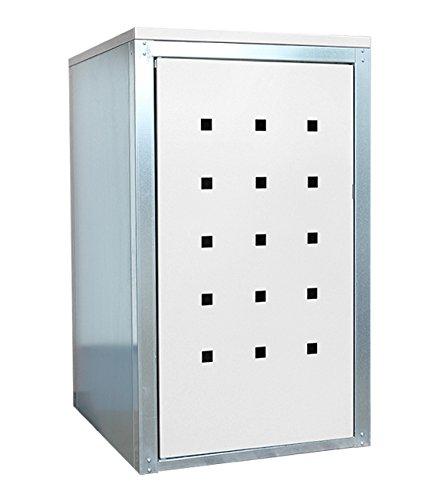 Geiger Mülltonnenbox Metall 120l Color Weiß