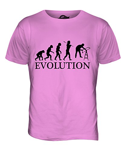 CandyMix Tischler Schreiner Evolution Des Menschen Herren T Shirt Rosa