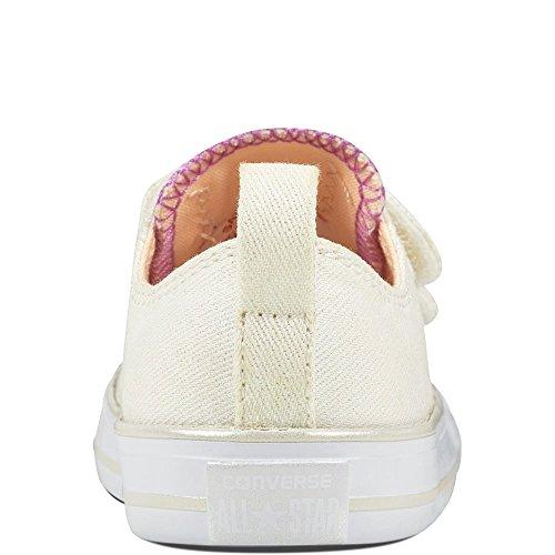 Basket, couleur Rouge , marque CONVERSE, modèle Basket CONVERSE CHUCK TAYLOR CTAS 2V OX Rouge Beige