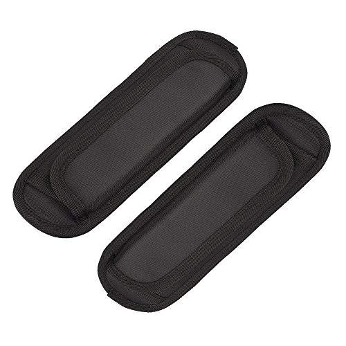 REYOK Abnehmbare Schultergurt Auflage Weiche Luftkissen Ersatz- Schultergurt Pad, 22 x 6.5 cm (Schwarz 2Pcs) -