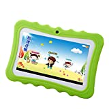 """leegoal 7"""" Portable HD Kids Tablet Upgrade Learning Pad with Kid-proof Silicone (Quad Core, Wifi & Bluetooth, Front & Rear Camera, Playstore, Youtube, Google, Twitter, IWAWA)"""