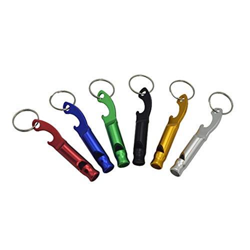 CFPacrobaticS 2 Stücke Stilvolle Tragbare Aluminiumlegierung Outdoor Sports Pfeife Flaschenöffner Werkzeug Zufällige Farbe