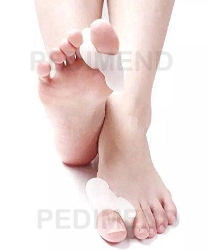 Externe Schmerzlinderung (2x pedimend Silikon Gel Big Zehenschutz für entzündeten Fußballen Behandlung/Zehentrenner/Abstandshalter/Straightener & Spreizer für Zehen Ausrichtung & Schmerzlinderung/absorbiert Druck und Reibung/Schwielen/entzündeten Fußballen Guard/gereizte entzündeten Fußballen/Hühneraugen/reduzieren Fuß Reibung (2Paar))