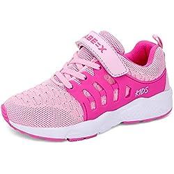 Zapatillas Deportivas Unisex para Niños Zapatillas de Correr Transpirables para Niñas Zapatillas Ligeras EU 28 Rosa