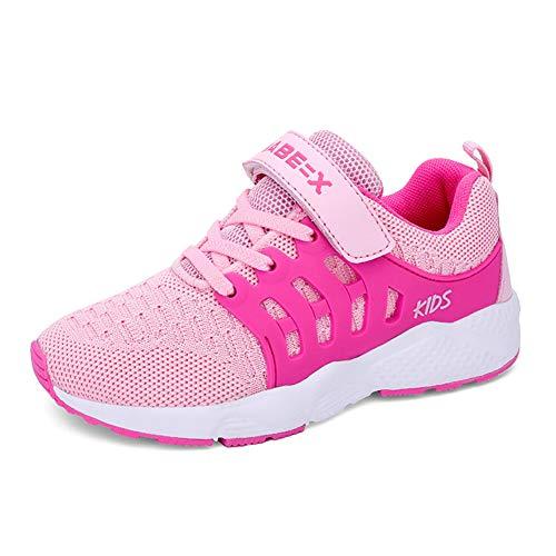 Unisex Kinder Trainer Jungen Atmungsaktive Straßenlaufschuhe Mädchen Leichte Turnschuhe EU 33 Pink -