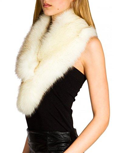 Caspar sto001 donna collo di pelliccia sintetica, colore:bianco;dimensioni:taglia unica