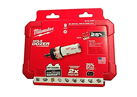 MILWAUKEE ELEC TOOL - Bi-Metal Hole Saw Kit, 8-Piece