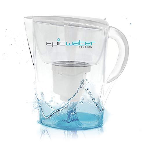 Epic Pure Gefiltert Wasser Krug - Ohne BPA - Entfernt Schwere Metalle, Mikroorganismen, Pestizide, Chemikalien, Industrielle Schadstoffe, Führen, Pharmazeutisch, Eisen