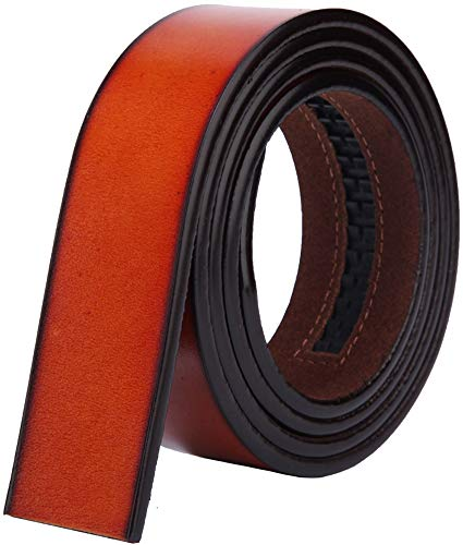 Wetoper Men Fashion Luxury Leather Waist Belt Automatic Waist Belt Without Buckle, 3,5 WIDE CM (Color 12, 130cm / 34-44 Adjustable Waist)
