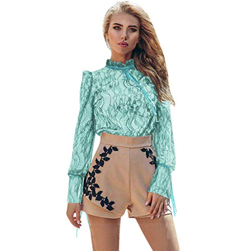 Donna Camicie Maniche Lunghe Sexy Bluse Eleganti Casual Tops Shirts Zarupeng