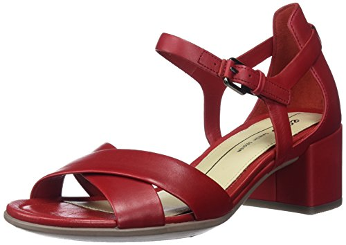 Ecco Damen Shape 35 Block Offene Sandal, Rot (1466CHILI Red), 40 EU