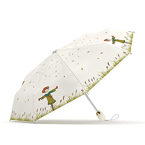 Meiyijia ombrello portatile pieghevole antivento di alta qualità, compact, ombrello da viaggio anti vento, ombrello ultraleggero,apertura e chiusura automatica,uv resistenza,beige