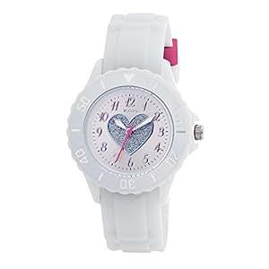 Tikkers - TK0034 - Montre Fille - Quartz Analogique - Bracelet Caoutchouc Blanc