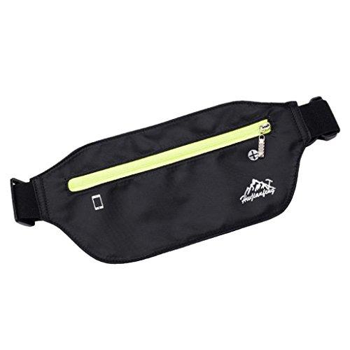 VJGOAL Damen Bauchtasche, Unisex Damen Herren Outdoor Sport Neutral Reine Farbe Wasserabweisend Nylon Messenger Brusttaschen (Schwarz)