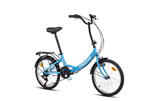 Moma Bikes Unisex- Erwachsene FIRST CLASS blau Klappräder