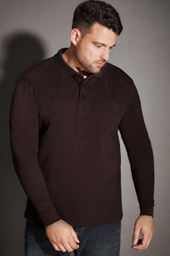 Mens Badrhino Long Sleeve Polo Shirt Tall Size Xlt