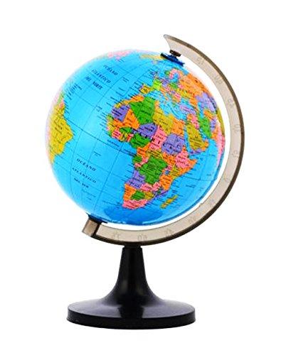 GLOBUS Ø19/15/10/8,5cm Erdglobus 4 Größen Earthglobe Weltkugel Globe Kinderglobus Geographie (Durchmesser 15 cm)
